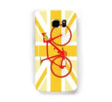 Bike Flag United Kingdom (Yellow) (Big - Highlight) Samsung Galaxy Case/Skin
