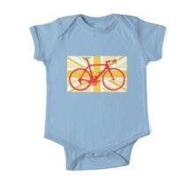 Bike Flag United Kingdom (Yellow) (Big - Highlight) One Piece - Short Sleeve