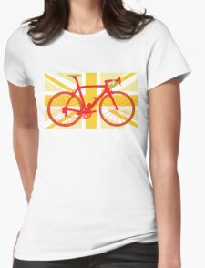 Bike Flag United Kingdom (Yellow) (Big - Highlight) T-Shirt