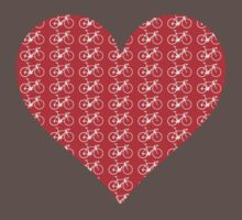 Bike Heart (Red-White) (Small) One Piece - Short Sleeve