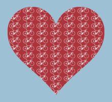 Bike Heart (Red-White) (Small) Kids Tee