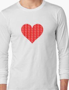 Bike Heart (Red-White) (Small) Long Sleeve T-Shirt