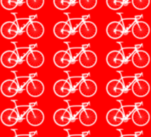 Bike Heart (Red-White) (Small) Sticker