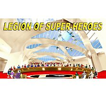 Legion of Super-Heroes Gathering Photographic Print