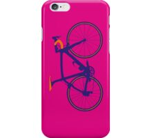 Bike Pop Art (Purple & Orange) iPhone Case/Skin