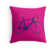 Bike Pop Art (Purple & Orange) Throw Pillow