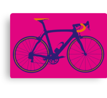 Bike Pop Art (Purple & Orange) Canvas Print