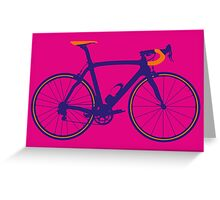Bike Pop Art (Purple & Orange) Greeting Card