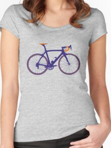 Bike Pop Art (Purple & Orange) Women's Fitted Scoop T-Shirt