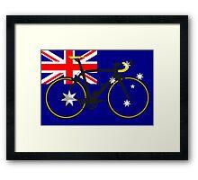 Bike Flag Australia (Big - Highlight) Framed Print