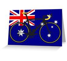 Bike Flag Australia (Big - Highlight) Greeting Card