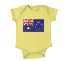 Bike Flag Australia (Big - Highlight) One Piece - Short Sleeve