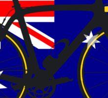 Bike Flag Australia (Big - Highlight) Sticker