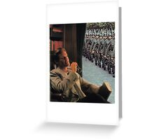 WATCHING WAR FLY BY. Greeting Card