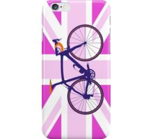 Bike Flag United Kingdom (Pink) (Big - Highlight) iPhone Case/Skin