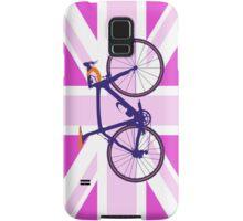 Bike Flag United Kingdom (Pink) (Big - Highlight) Samsung Galaxy Case/Skin