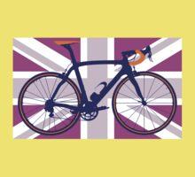 Bike Flag United Kingdom (Pink) (Big - Highlight) Kids Clothes