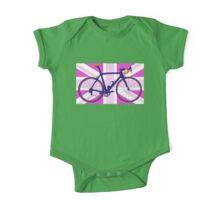 Bike Flag United Kingdom (Pink) (Big - Highlight) One Piece - Short Sleeve