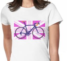 Bike Flag United Kingdom (Pink) (Big - Highlight) Womens Fitted T-Shirt