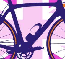 Bike Flag United Kingdom (Pink) (Big - Highlight) Sticker