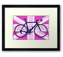 Bike Flag United Kingdom (Pink) (Big - Highlight) Framed Print
