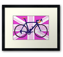 Bike Flag United Kingdom (Pink) (Big - Highlight) Framed Print