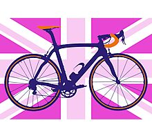Bike Flag United Kingdom (Pink) (Big - Highlight) Photographic Print