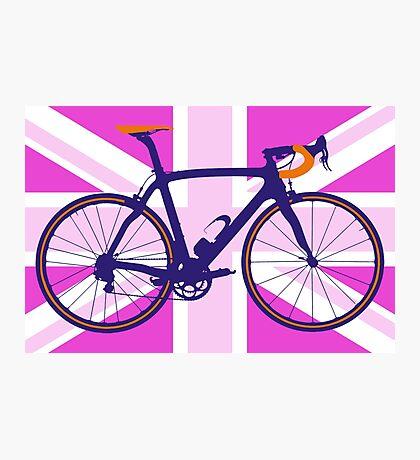 Bike Flag United Kingdom (Pink) (Big - Highlight) Photographic Print