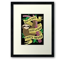 Sloth Philosophy Framed Print