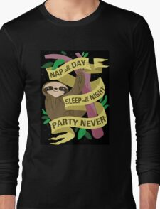 Sloth Philosophy Long Sleeve T-Shirt