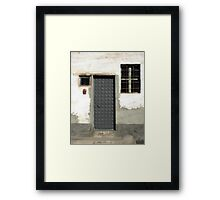 Door 92 Geometric Framed Print