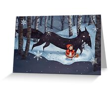Little Red Riding Hood and the Wolf Greeting Card