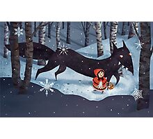 Little Red Riding Hood and the Wolf Photographic Print
