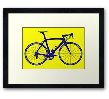 Bike Pop Art (Purple & Green) Framed Print