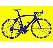 Bike Pop Art (Purple & Green) Photographic Print
