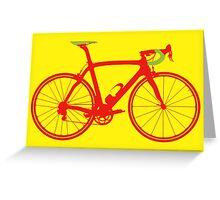 Bike Pop Art (Red & Green) Greeting Card