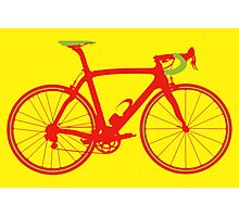 Bike Pop Art (Red & Green) Photographic Print