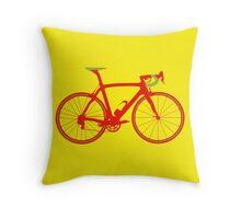 Bike Pop Art (Red & Green) Throw Pillow