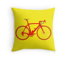 Bike Pop Art (Red & Green) Throw Pillow