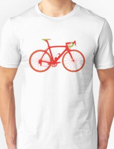 Bike Pop Art (Red & Green) Unisex T-Shirt