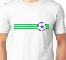 Football Stripes Brazil Unisex T-Shirt