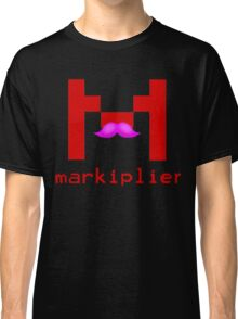 Markiplier Logo With Pink Mustache! Classic T-Shirt