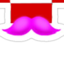 Markiplier Logo With Pink Mustache! Sticker