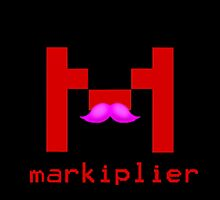 Markiplier Logo With Pink Mustache! by 3mbuscus