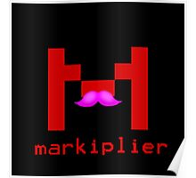 Markiplier Logo With Pink Mustache! Poster