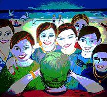 Tourists .Surfers Paradise by Virginia McGowan