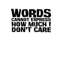 Words cannot express how much I don't care Photographic Print