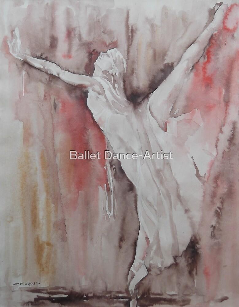 The Balance - Ballet Painting - Dance Art Gallery by Ballet Dance-Artist