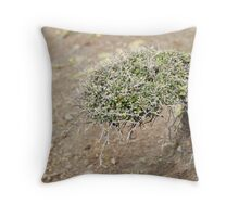 Never Say Die. Throw Pillow