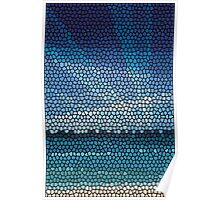 Mosaic abstract sea or ocean shore  Poster